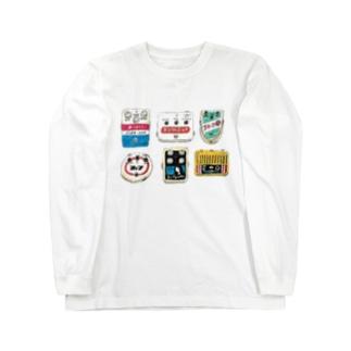 レトロ看板風エフェクター Long sleeve T-shirts