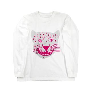 ホワイトメッシュジャガー Long sleeve T-shirts