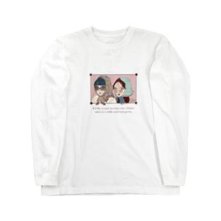 スカーフまきがーる Long sleeve T-shirts
