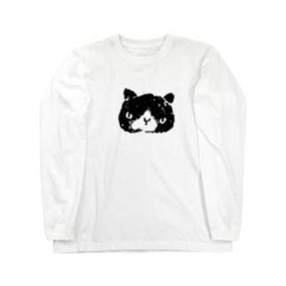 シロクロぬこ Long sleeve T-shirts