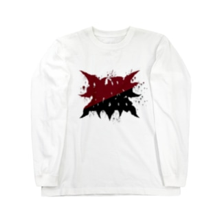 PURE BLOOD RED BEFORE BLACK Long sleeve T-shirts