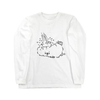 ネミミィの水浴び Long sleeve T-shirts