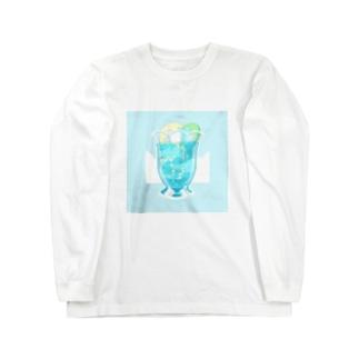 処暑のソーダ Long sleeve T-shirts
