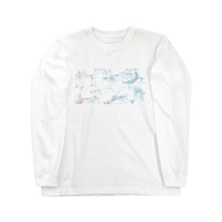 里 (sato)の溶ける Long sleeve T-shirts