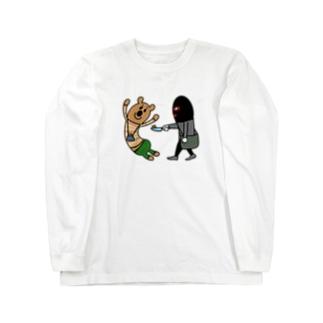 カタツムリを見せてもらっているだけ Long sleeve T-shirts
