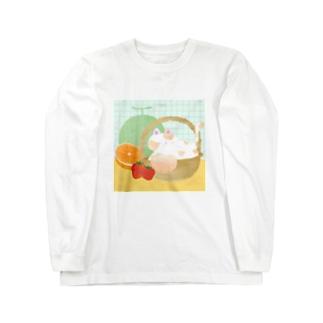 ねこのかごももちゃん Long sleeve T-shirts
