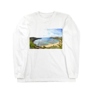 ハナウマ湾 Long sleeve T-shirts