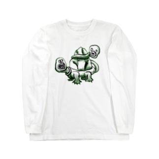 ししんのかめ Long sleeve T-shirts