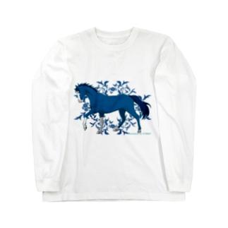 BLUE HORSE Long sleeve T-shirts
