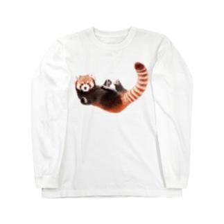 レッサーパンダM Long sleeve T-shirts