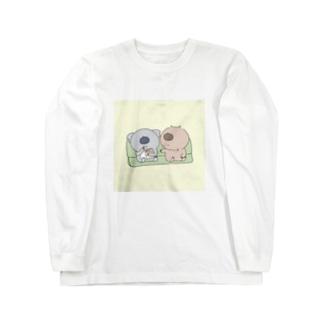 ポップコーンちょうだい Long sleeve T-shirts