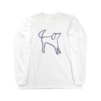 ラフな犬くん  Long sleeve T-shirts