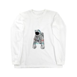脱力宇宙猫 Long sleeve T-shirts