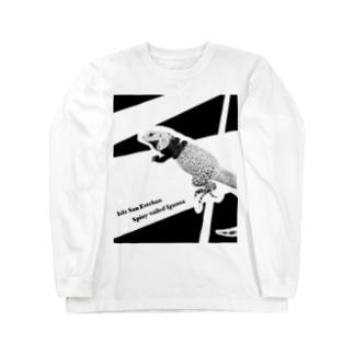 サンエステバントゲオイグアナ白基調グッズ Long sleeve T-shirts
