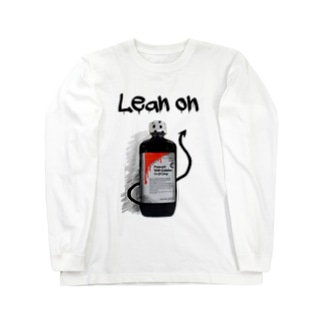 Lean on/依存 Long sleeve T-shirts