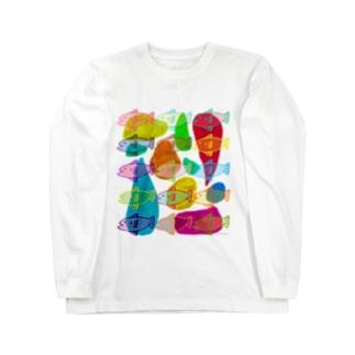 魚の冬休み Long sleeve T-shirts