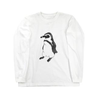 ギラリ、ペンギン Long sleeve T-shirts