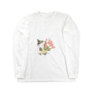 チューリップの花束 Long sleeve T-shirts