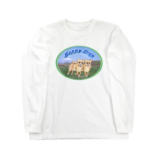 kigaruya Happy Dogs 草原 Long Sleeve T-Shirt
