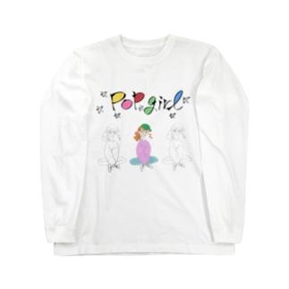 ポップガール増量版 Long sleeve T-shirts