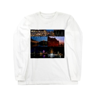 横浜夜景No.01 Long sleeve T-shirts