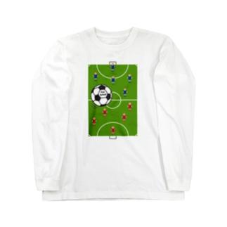 楽しいフットサル Long sleeve T-shirts