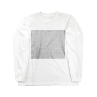 ビーカーくんたちグレー×白 Long sleeve T-shirts