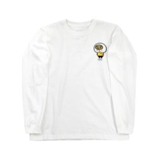 シマシマうどん脳とゼッケン26(両面刷り) Long sleeve T-shirts