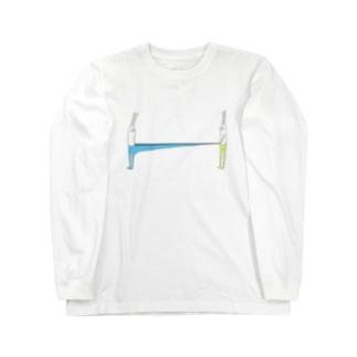 うさぎタイツとおともだち(ストロングタイプ) Long sleeve T-shirts