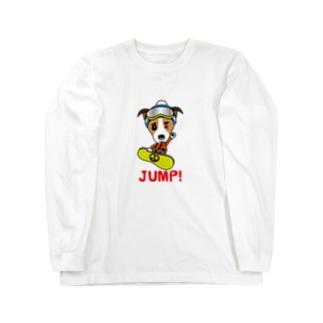 JUMP!ジャックラッセルテリア Long sleeve T-shirts