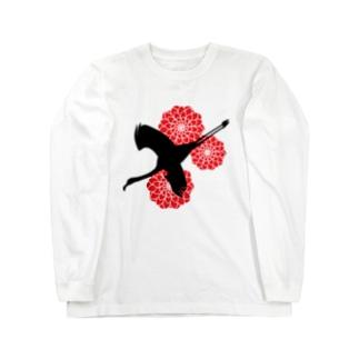 天竺牡丹 Long sleeve T-shirts