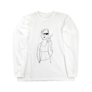 cigarette woman Long sleeve T-shirts