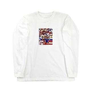 スポーツART✖️パス⚽️ Long sleeve T-shirts