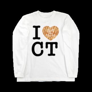 SHOP W SUZURI店のI ♥ Cha Tora ロングスリーブTシャツ Long sleeve T-shirts