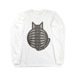 猫の丸い背中(サバトラ) ロングスリーブTシャツ Long sleeve T-shirts