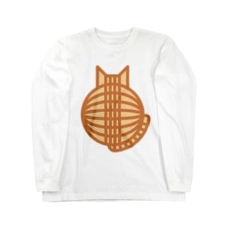 猫の丸い背中(チャトラ) ロングスリーブTシャツ Long sleeve T-shirts