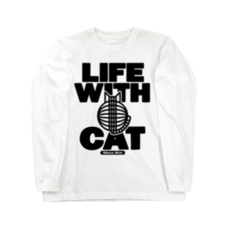 LIFE WITH a CAT ロングスリーブTシャツ Long sleeve T-shirts