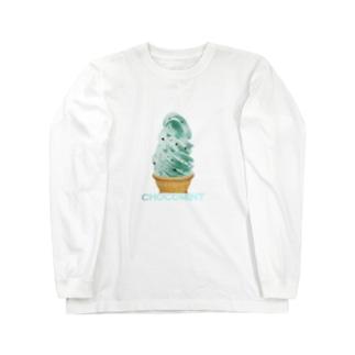 madeathのチョコミントソフト Long sleeve T-shirts