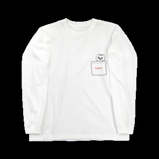 saimari@LINEスタンプ販売中のポッケにkumaco Long sleeve T-shirts