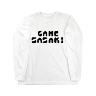 GAME SASAKI Long sleeve T-shirts