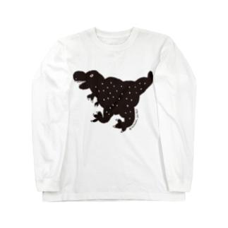 ブラックティラノ Long sleeve T-shirts