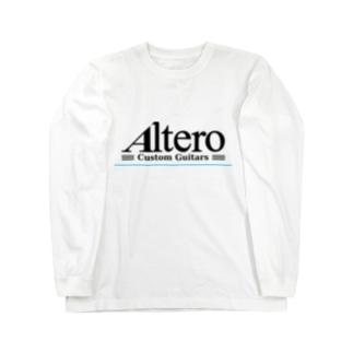 Altero Custom Guitars02(淡色向け) Long sleeve T-shirts