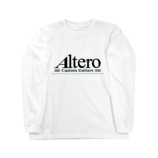 Altero Custom Guitars02(淡色向け) Long sleeve T-shirts
