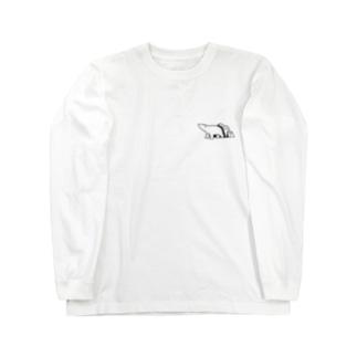 シロクマと氷山(小) Long sleeve T-shirts