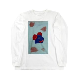 川で遊ぼう Long sleeve T-shirts