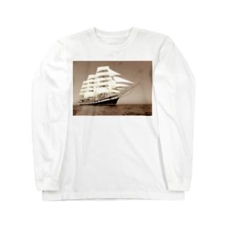 帆船セピア~宝を求めて大冒険~ Long sleeve T-shirts
