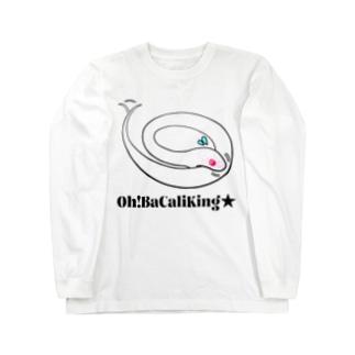 おバカリキン★ブリザード+12モルフ図鑑(両面プリント) Long sleeve T-shirts