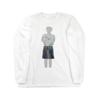 デニムのケミカルに下剋上されたりゅうちぇる Long sleeve T-shirts