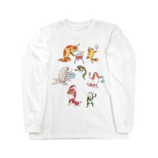 金魚づくし現代版 OMATSURI Long Sleeve T-Shirt
