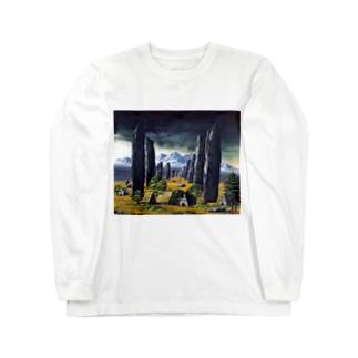 カラニッシュ・石の十字架 Long sleeve T-shirts
